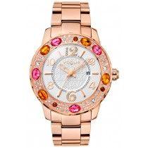 VOGUE Jaipur Crystals Rose Gold Stainless Steel Bracelet 97023.2