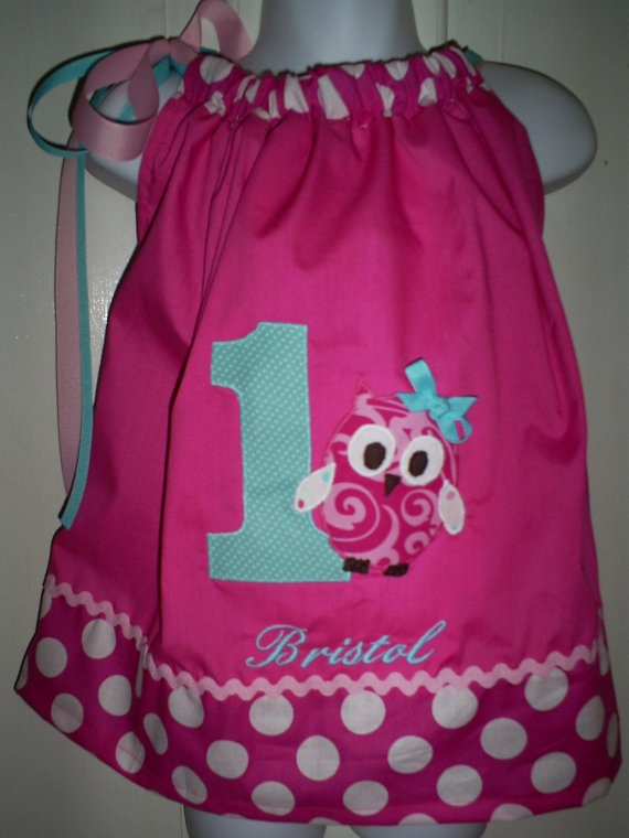 The Peppy Pretty in Pink OWL Birthday Party by whimsicalwardrobe, $35.00