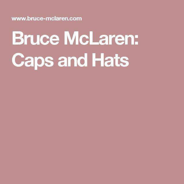 Bruce McLaren: Caps and Hats