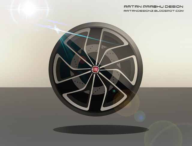 RATANDESIGNZ: Fiat Wheel Design Sketch Concept