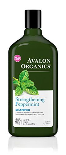 Avalon Organics Strengthening Shampoo  Pepppermint  11 oz ** Continue to the product at the image link.