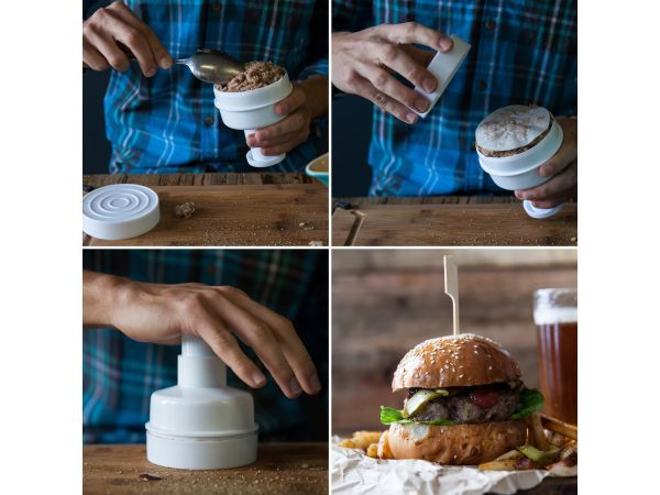Kitchen Craft Burger Maker With 100 Wax Discs - For making perfectly shaped meat, fish and veggie burgers that keep their shape during cooking.
