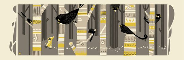"""""""Wandering Yellow Hood"""" limited edition screen print From Graham Carter exhibit announcement"""