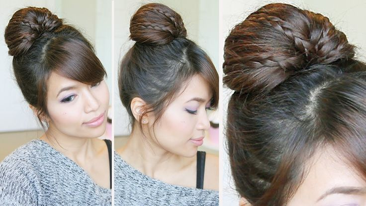 Braided Fan Bun Updo Tutorial - Bebexo i use this all the time and it is awesome!! Stays in wonderfully and i always get compliments on it actually very easy.