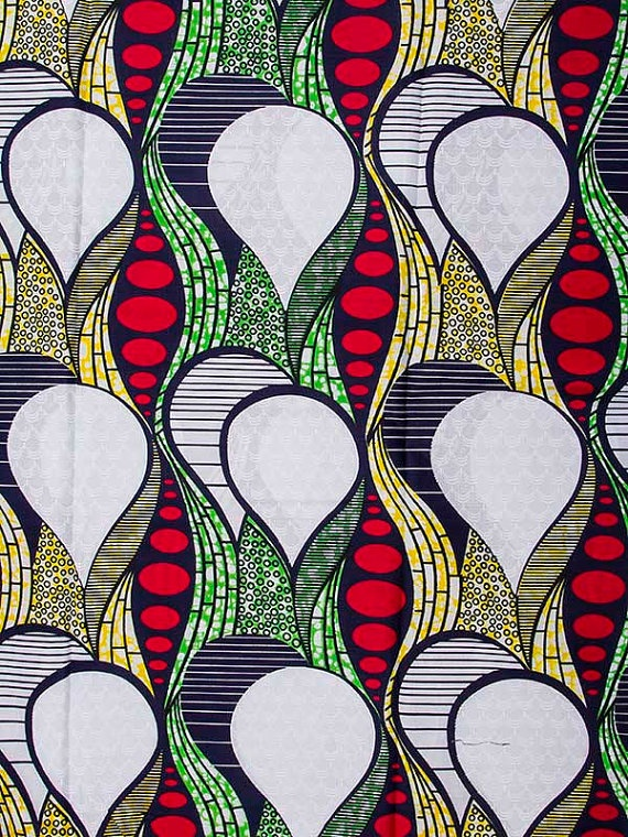 African Fabric Super Wax Print 6 Yards 100 by Africanpremier