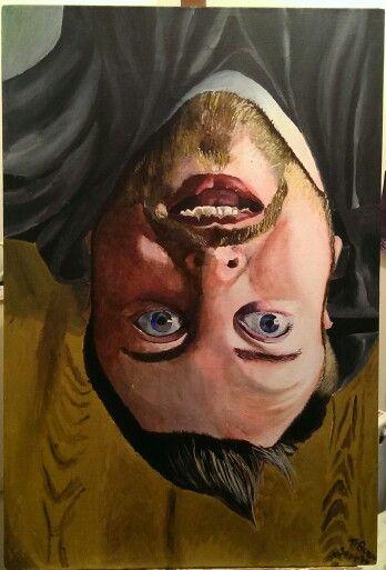 Mark, Acrylic on Canvass, 650mm x 900mm