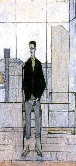 Man seated in the Studio, 1949 by Bernard BUFFET (French 1928 - 1999)