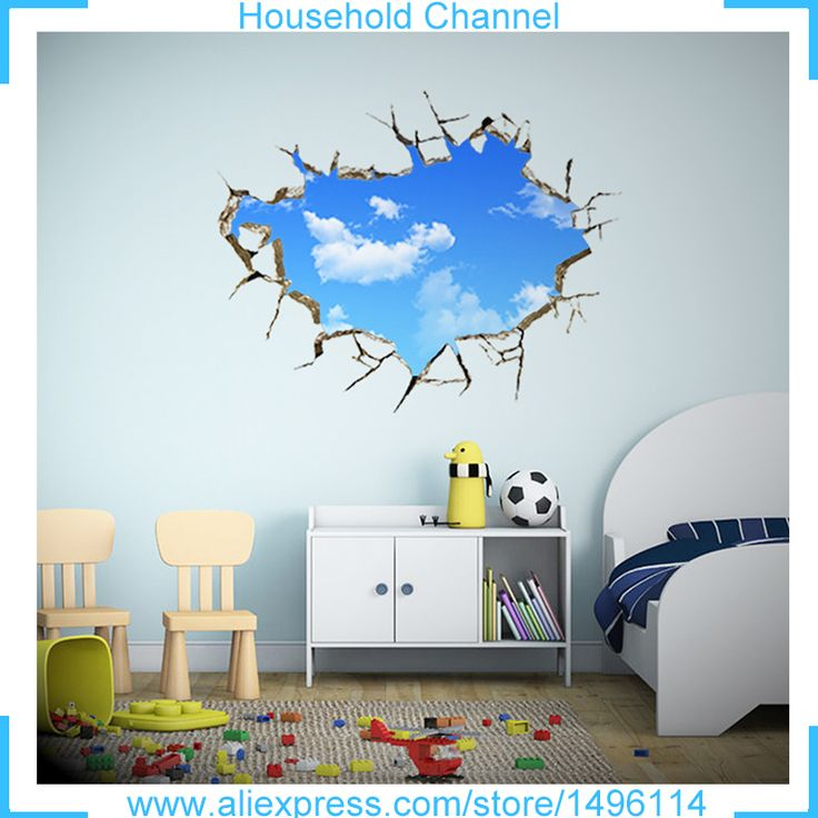 3D Wall Stickers Muraux World Map Bedroom Living Room Painting Roofs Clouds Sky Lotus Dinosaur Devil Eye Decor adesivo de parede -*- AliExpress Affiliate's buyable pin. Find similar products on www.aliexpress.com by clicking the VISIT button