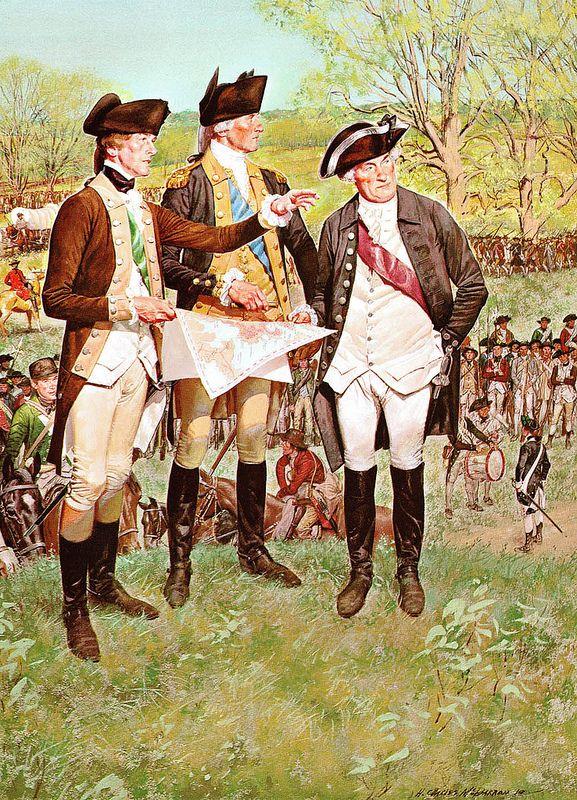 1775, Gen. Washington at the Siege of Boston, by H. Charles McBarron, Jr.