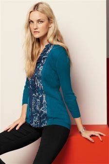 Knitted Mock Layer Top (793638G41)   £28