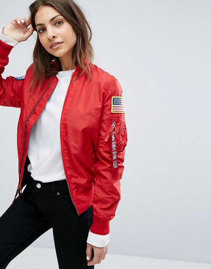 Alpha Industries MA-1 TT Nasa Reversible Bomber Jacket - Red