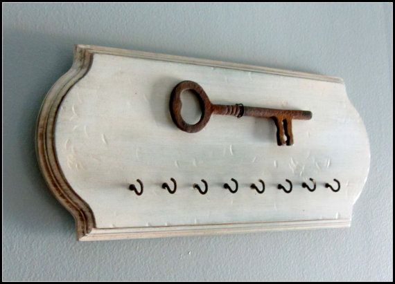 Rustic Key Holder  Wall Hook Rusted Wall decor by @WireHearts @Etsy @etsyLush