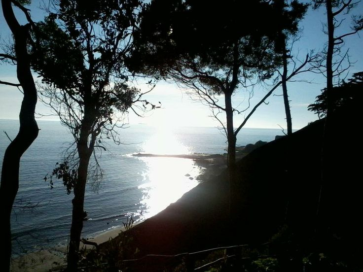 Atardecer desde mirador del Parque Isidora Cousiño, Lota
