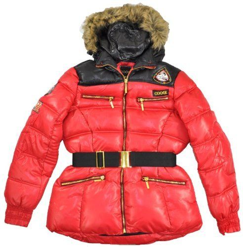 Shop  Coogi Womens Belted Outerwear Coat (Large, Red)