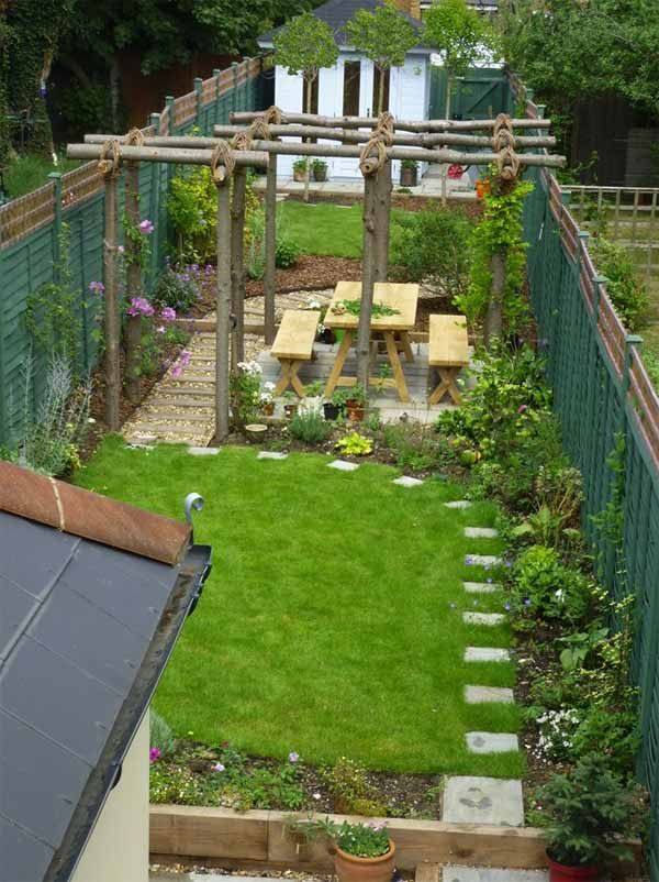18 clever design ideas for narrow and long outdoor spaces - Garden Design Long Narrow Plot