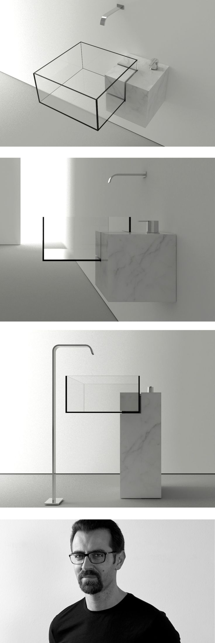 Milan-based architect #VictorVasilev designed KUB, a nearly invisible bathroom… Me gusta la innovación