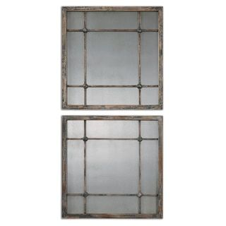 Uttermost Saragano Slate Blue Square Mirrors (Set of 2) - 15840212 - Overstock.com Shopping - Great Deals on Uttermost Mirrors