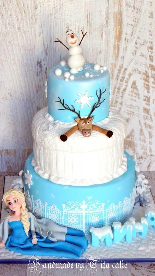 ideia bolo festa frozen