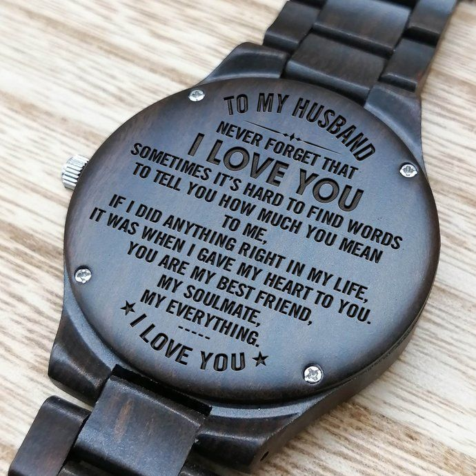 6a6c0adaf2498 Perfect Gifts For Husband - Engraved Wooden Watch - Men s Watch by  HeavenKP