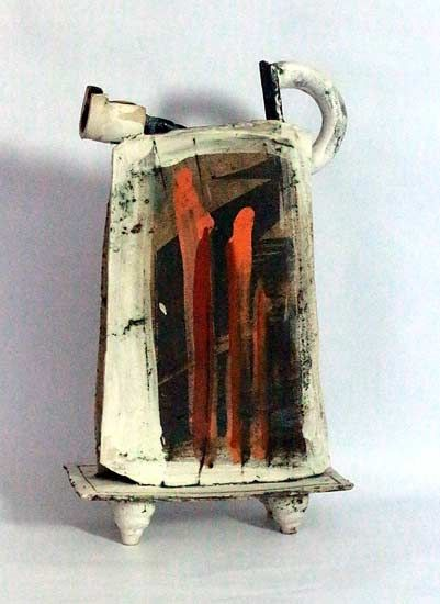 Ceramics by John Higgins at Studiopottery.co.uk - 2013. Constructed jug form thrown and altered (3)