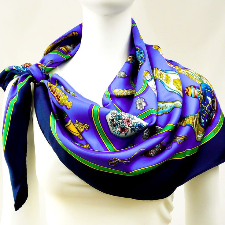 Authentic Vintage Hermes Silk Scarf Qu'importe Le Flacon - Stunning