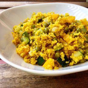 Paella vegetariana di quinoa con piselli, peperoni e zucchine - di Giorgia Guidetti #fuudly #ricette