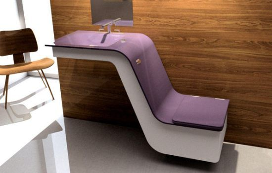 Saqua combines functions of a sink and toilet in one unit