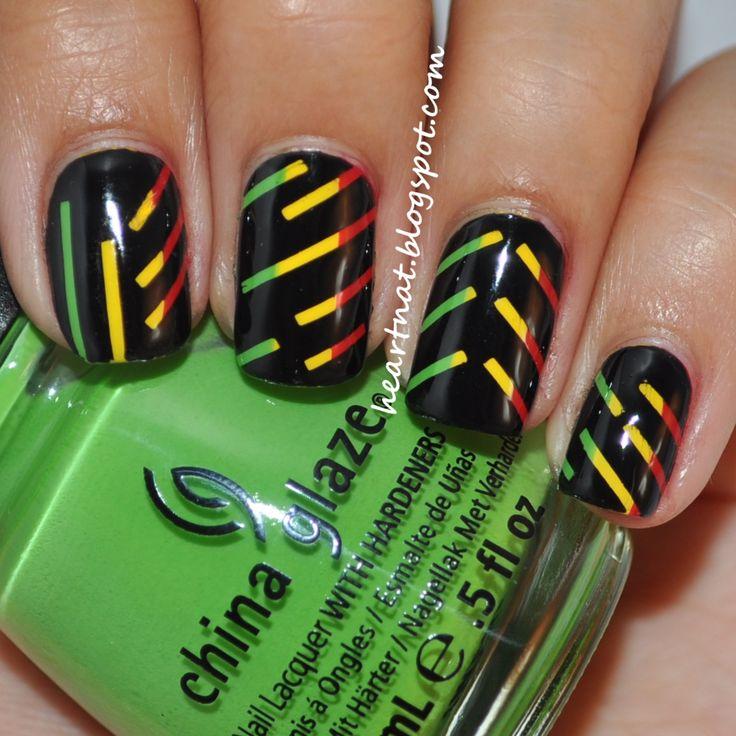 25 best rasta jamaican reggae nail art designs images on Pinterest ...