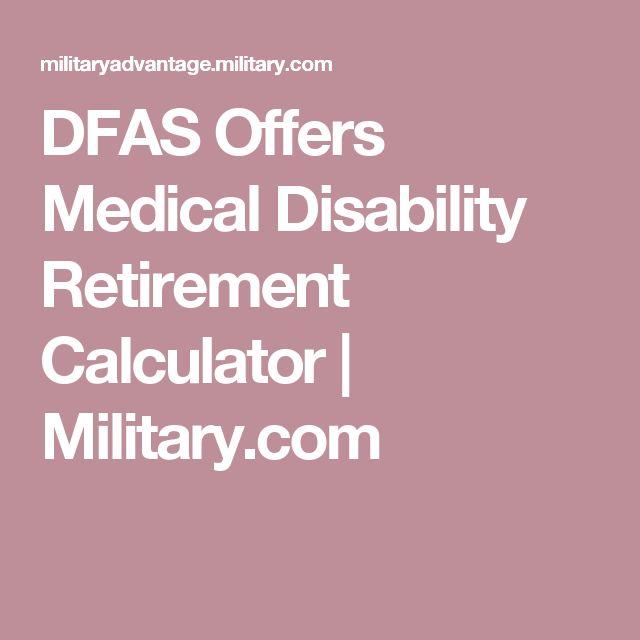 DFAS Offers Medical Disability Retirement Calculator | Military.com