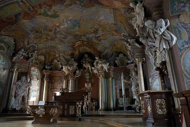 Baroque Aula-Leopoldina - Auditorium Academicum, Wrocław University, Poland