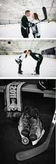 hockey rink engagement photos