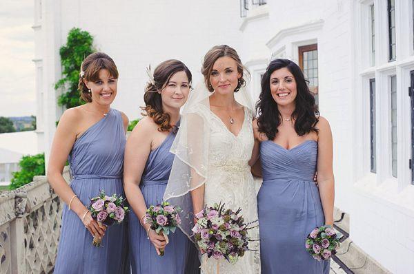 Edwardian garden party inspired wedding, Jane Bourvis wedding dress, wedding on a farm, Summer wedding, Lilac bridesmaids dresses, Julie Ske...