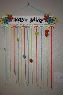Birthday Chart. simple