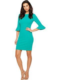 Donna Morgan 3/4 Bell Sleeve Sheath Dress
