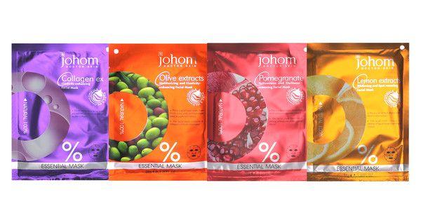 4 forskjellige helt naturlige ansiktsmasker! Alle maskene er naturlige og basert på plante- og vitaminekstrakter.