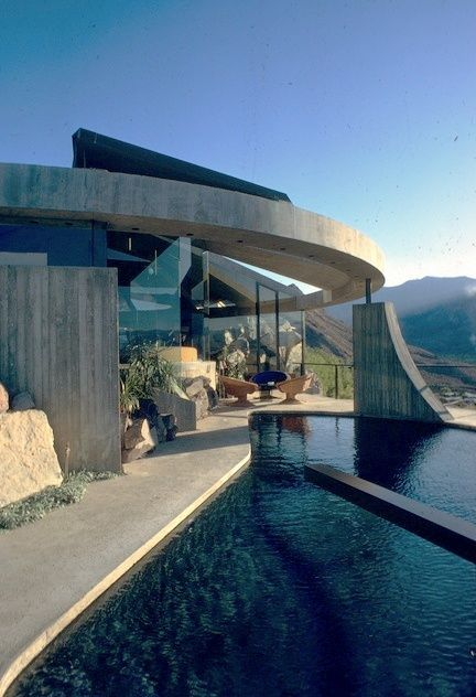 elrod house, john lautner, palm springs, 1968 pool stylepark