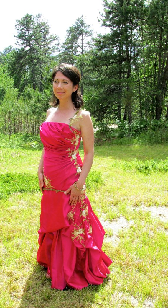 Upcycled Pink Prom Dress/ Alternative Pink by BlueEyedBoutique