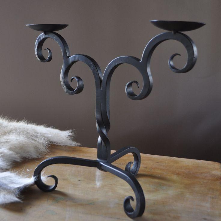 Designer quality Iron Candelabra. Handmade in Australia by a Blacksmith in the snowy Mountains! Designtrade.com.au