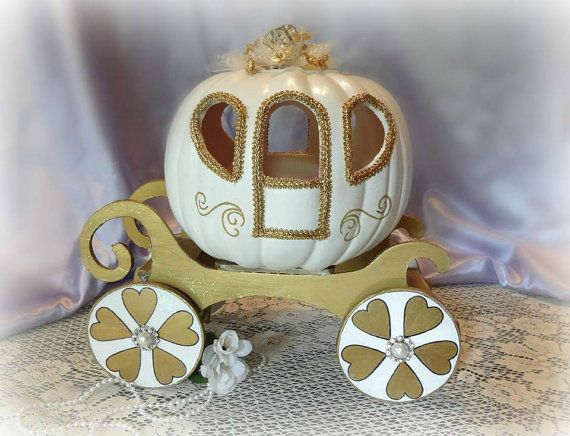 Handmade Cinderella Pumpkin Carriage Coach by PumpkinsandPinecones