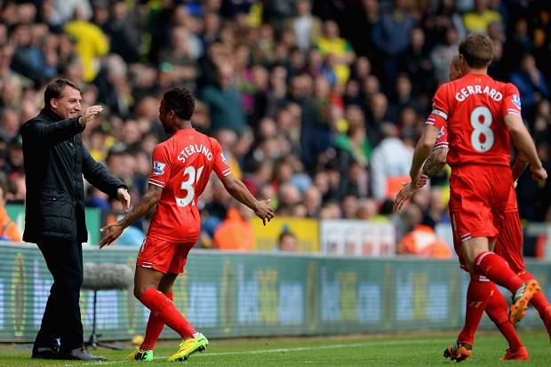 Sterling was the game's outstanding performer, scoring a goal in each half and setting up the other Liverpool goal for Suárez, but the Premier League leaders were made to fight hard for their eleventh consecutive victory. Norwich's second-half performance pleased Neil Adams, their new manager, immensely, so much so that he might have felt they deserved more reward than the goals from Gary Hooper and Robert Snodgrass that gave them hope at 2-1 and 3-2.