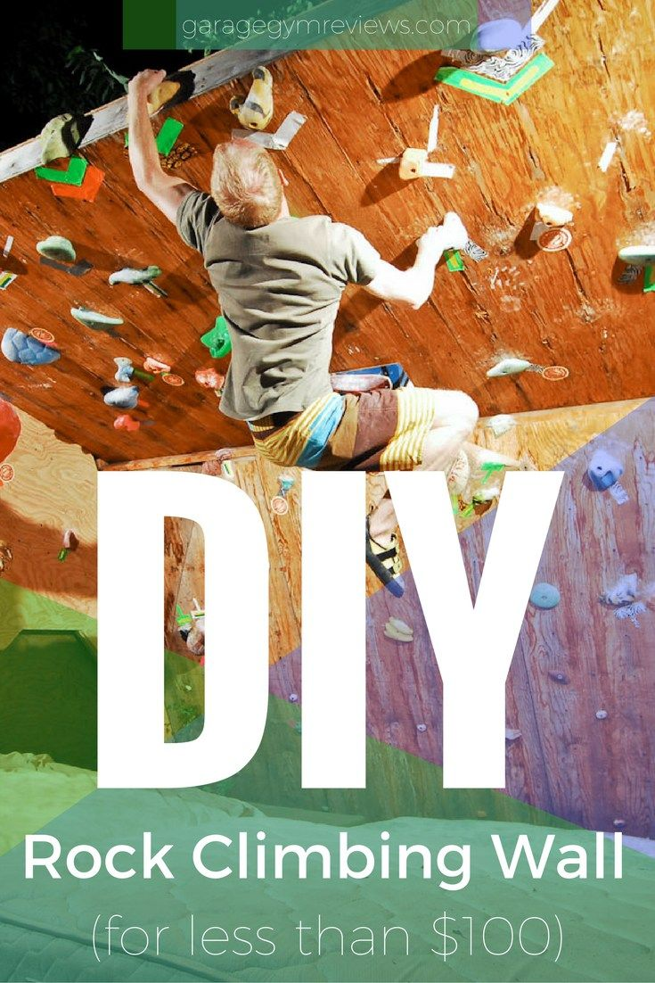 DIY Rock Climbing Wall for your Home or Gym for under $100! These are awesome for both adults training as well as little kids!