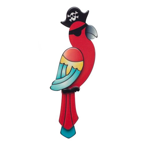 **VERY RARE, LAST ONE!** Limited edition, original Erstwilder Captain Pearl Parrot brooch by Louisa Camille. $34.95