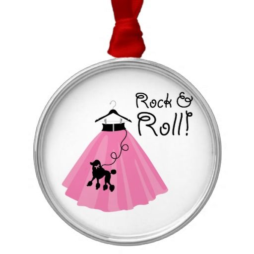 Rock And Roll Poodle Skirt Christmas Tree Ornaments
