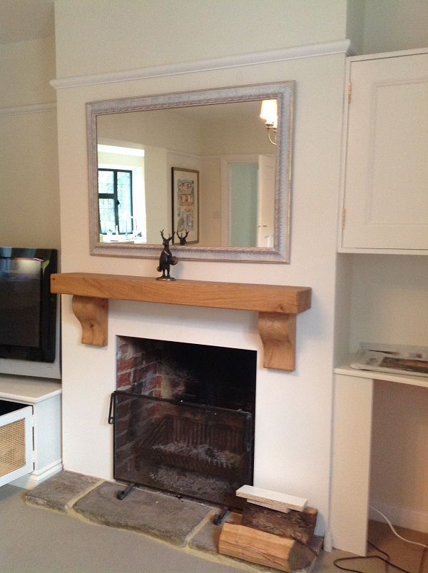 """""""I recently bought the Rustic Curved Corbel Oak Mantel Shelf and could not be happier with the product and service I received. The team were really helpful when I was ordering, they delivered very quickly and unlike a lot of websites, they gave a very personal service (no call centres!). My oak mantle shelf is very impressive, and a real statement piece in our living room of the best quality so I highly recommend this company."""""""
