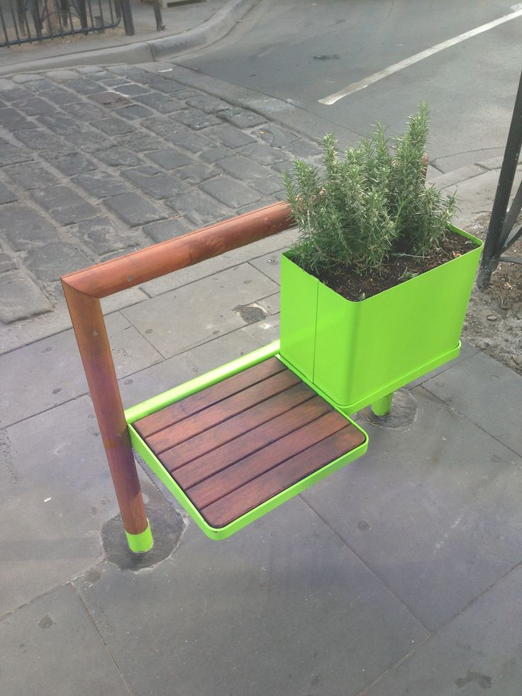 Quirky street bench