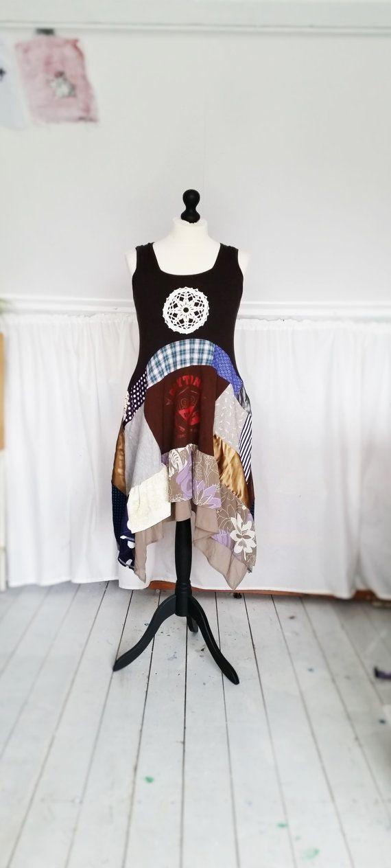 Upcycled Dress, Upcycled Boho Dress Hippie Boho Dress Shabby by MevrouwHartman https://www.etsy.com/shop/MevrouwHartman  http://www.mevrouwhartman.nl/