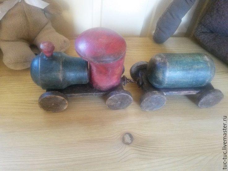 """Купить Паровозик """"Ретро"""" - паровозик, деревянные заготовки, детская комната, игрушка, подарок"""