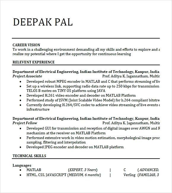 25+ ide terbaik Resume format for freshers di Pinterest - download resume samples
