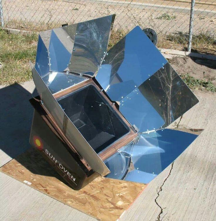 Solar oven.