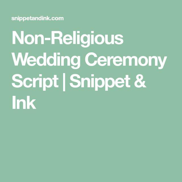 Non-Religious Wedding Ceremony Script | Snippet & Ink